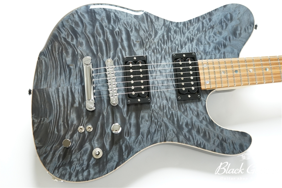 BORDER CUSTOM 666 Quilted Maple Top Mahogany Back - Trans Black