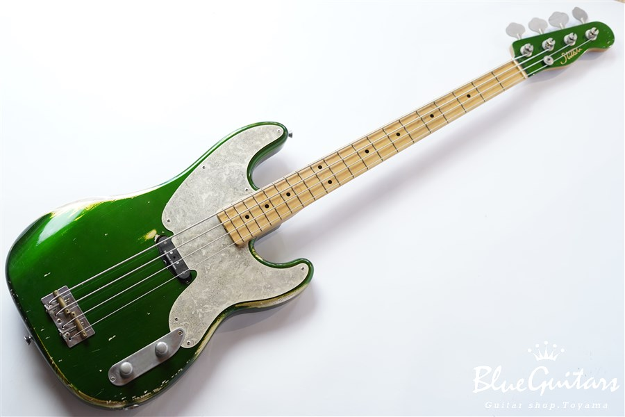 Model-TB #032 Medium Aged - Candy Apple Green with Antique Silver
